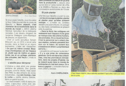 Les abeilles et les arbres s'invitent dans les entreprises