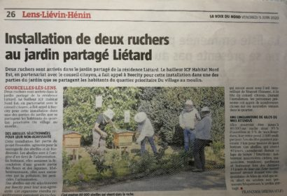 Installation de ruches chez ICF Habitat