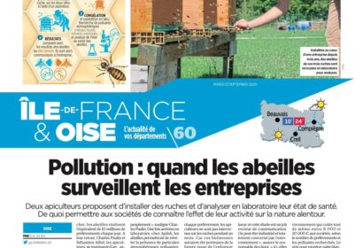Article de presse Le Parisien du 22/09/20